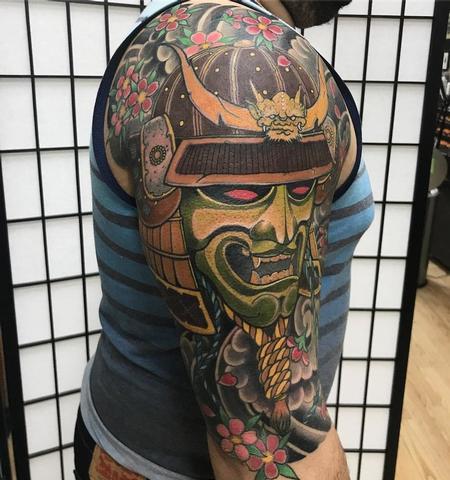 tattoos/ - Samurai Japanese tattoo half sleeve tattoo - 140813