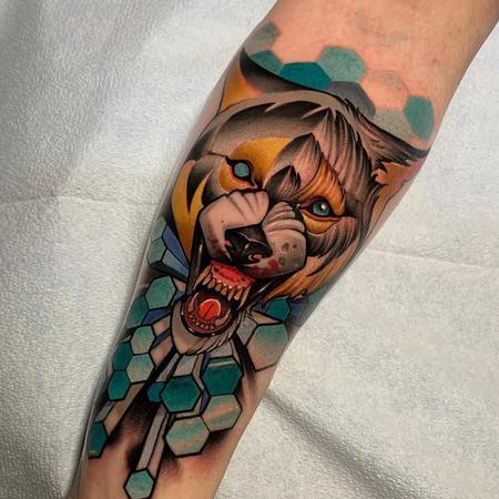 tattoos/ - Geometric Wolf Tattoo - 141397