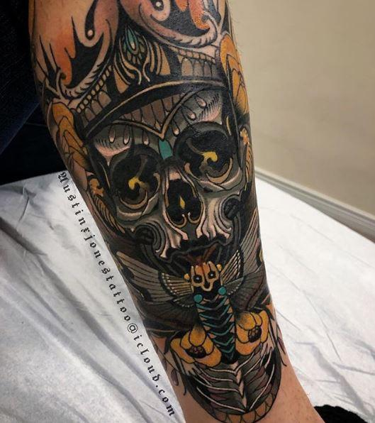 Painted Temple : Tattoos : Austin Jones : Neo Traditional ...