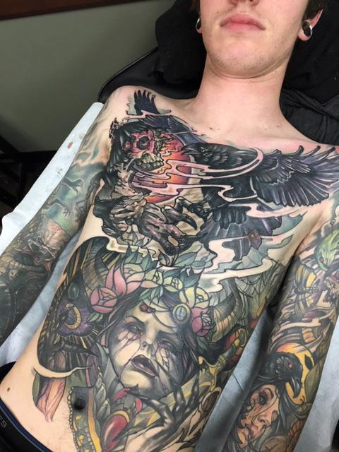 Chest Tattoo By Al Perez : Tattoos