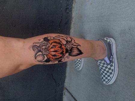 tattoos/ - Sadie Gabriella Pumpkin Jack-O-Lantern - 142501