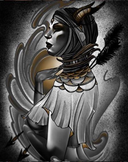 Art Galleries - Al Perez Demon Lady - 139101