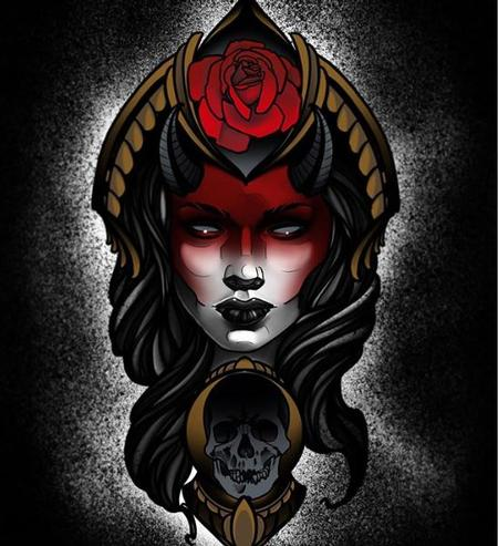 Art Galleries - Al Perez - Original Art - Demon Lady - 140522
