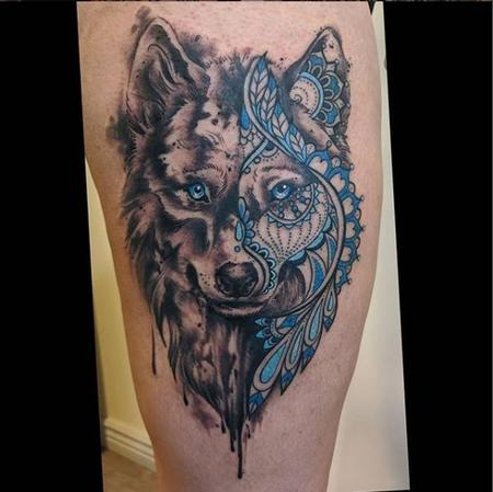 tattoos/ - Bonnie Seeley Geometric Wolf - 140819