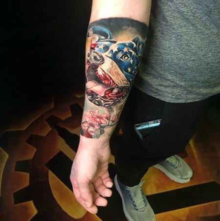 tattoos/ - Chris Good American Flag Dog - 141524