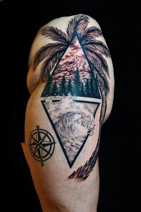 tattoos/ - Bonnie Seeley Wave and Trees - 142206