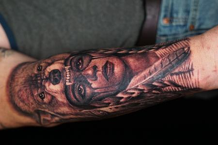 tattoos/ - Ryan Cumberledge Woman with Wolf Headdress - 142503