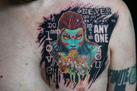 tattoos/ - Walt Watts Spooky Lady  - 142547