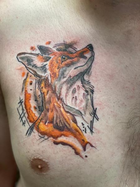 tattoos/ - Fia Watercolor Fox - 142675