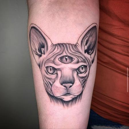 tattoos/ - Spynx Cat Minds Eye - 142875