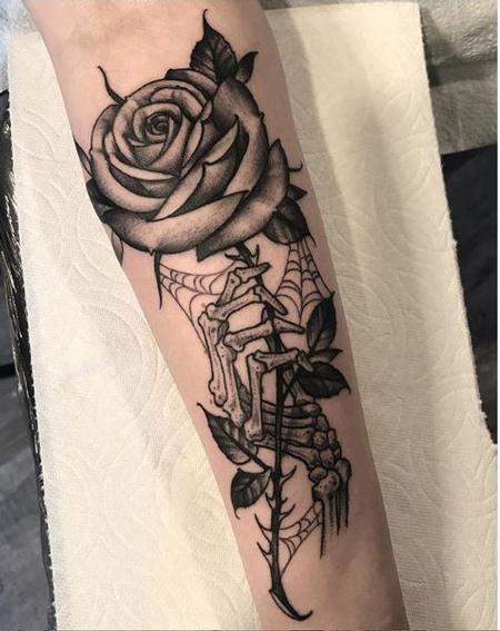 tattoos/ - Shawn Monaco Skeleton Hand and Rose - 139137