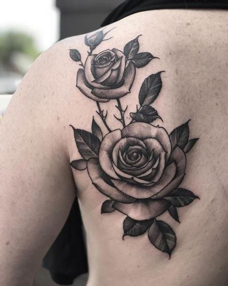 tattoos/ - Shawn Monaco Roses - Black and Grey - 138988