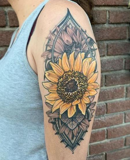tattoos/ - Tori Loke Sunflower - 140591