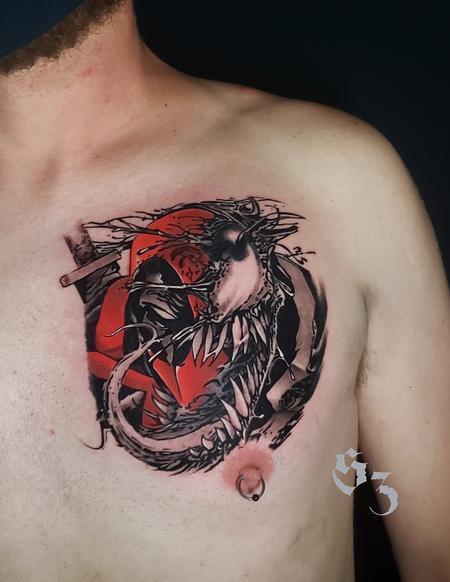 tattoos/ - Quade Dahlstrom Deadpool Venom - 142193