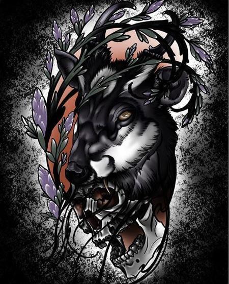 Art Galleries - Dark deer and skull - 138252