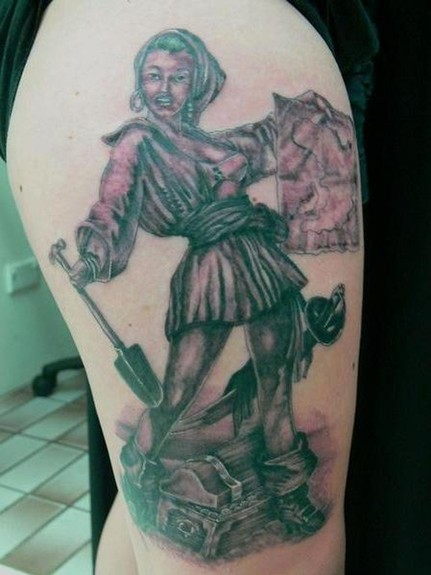 tattoos/ - Pirate Girl Tattoo - 49549