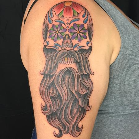 tattoos/ - BEARD SKULL - 134762