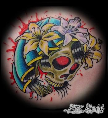 tattoos/ - Hooded Skull  - 43506