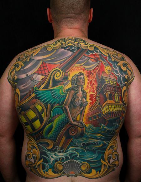 tattoos/ - Sea Battle Backpiece - 128062