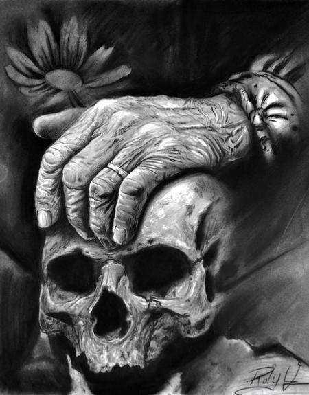 Art Galleries - Hand on skull - 89401