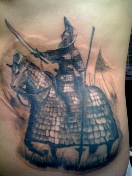 tattoos/ - Horse and Knight Tattoo - 52350
