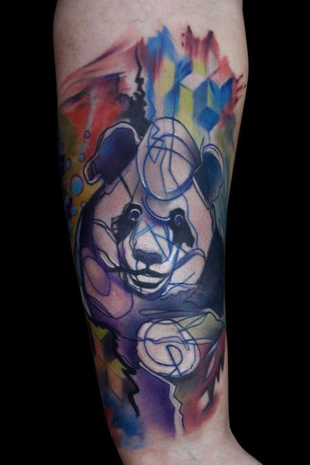 tattoos/ - Abstract Panda Bear - 108941