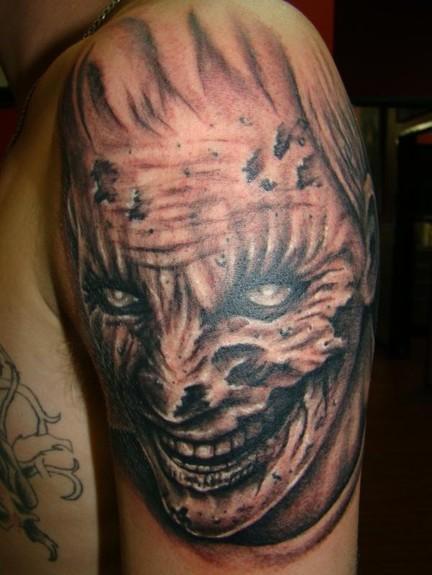 tattoos/ - Zombie Face Tattoo - 51767