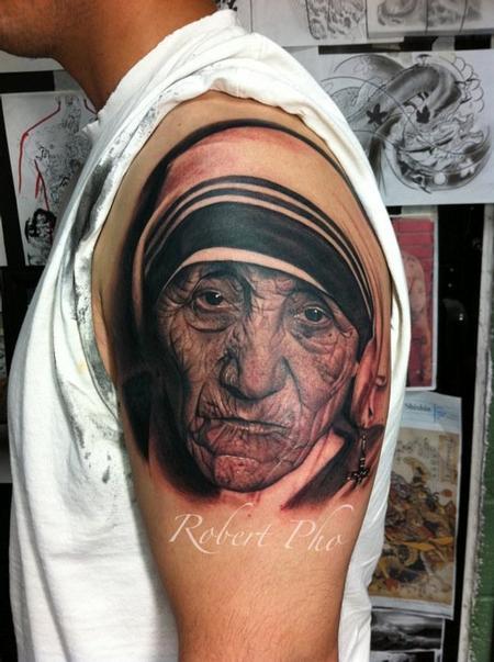tattoos/ - Mother Tersea portrait - 77128