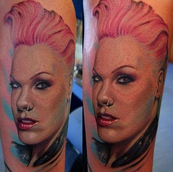 tattoos/ - Pink portrait tattoo - 49062