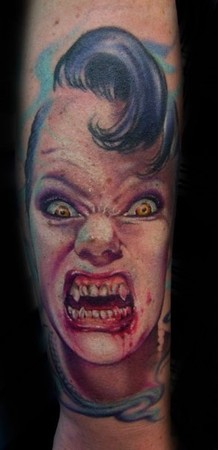 tattoos/ - Vampire portrait tattoo - 49063