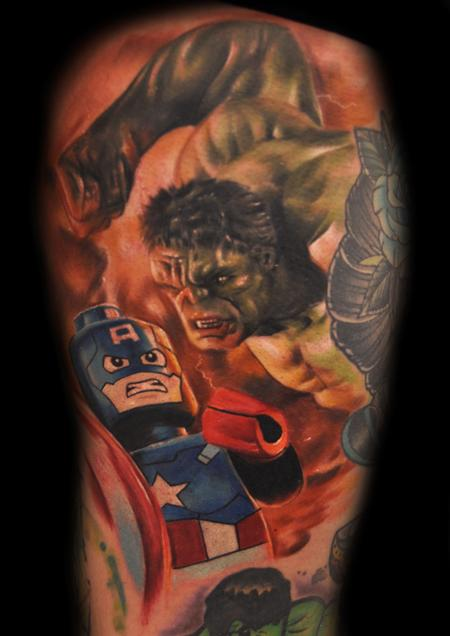 tattoos/ - SuperHeroes LEGOLISM - 107999