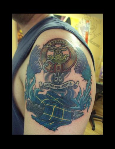 tattoos/ - Family Crest and Tartan with Sgain Dubh - 68998