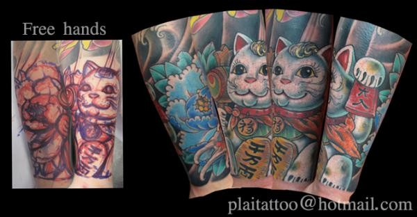 tattoos/ - Freehand Kitty Tattoo - 49875