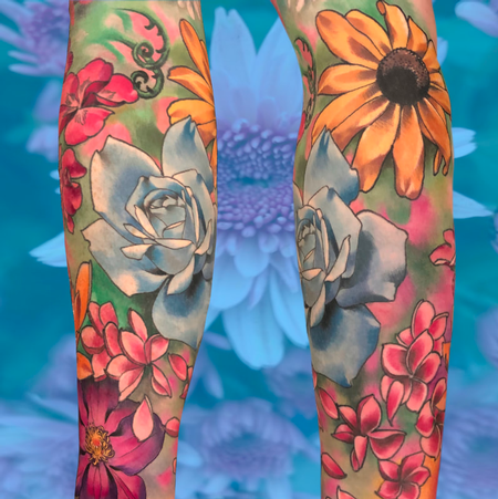 tattoos/ - Full color flowers tattoo - 140667