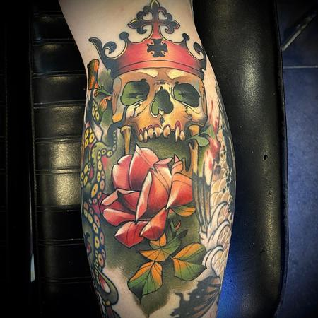 tattoos/ - Rose with Skull and Crown Tattoo - 141400
