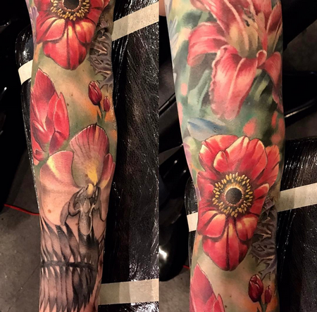 tattoos/ - Flowers and Skull - 140912