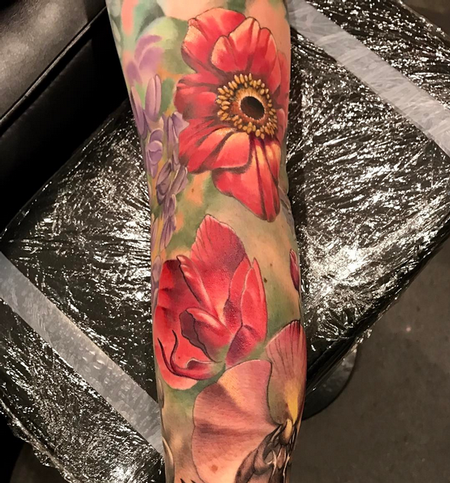 tattoos/ - Color Flowers Tattoo - 140911