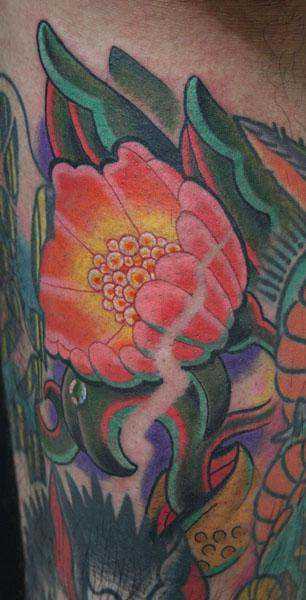 tattoos/ - Color Flower Tattoo - 60512