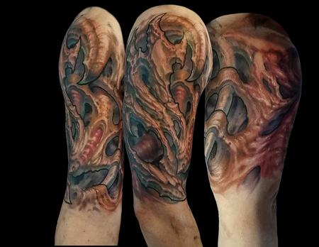 tattoos/ - Splintered bone inspired biomech - 122211