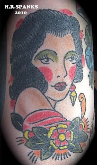 tattoos/ - traditional girl Tattoo - 52213