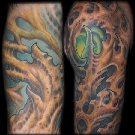tattoos/ - Bio Organic Half Sleeve Details - 95845