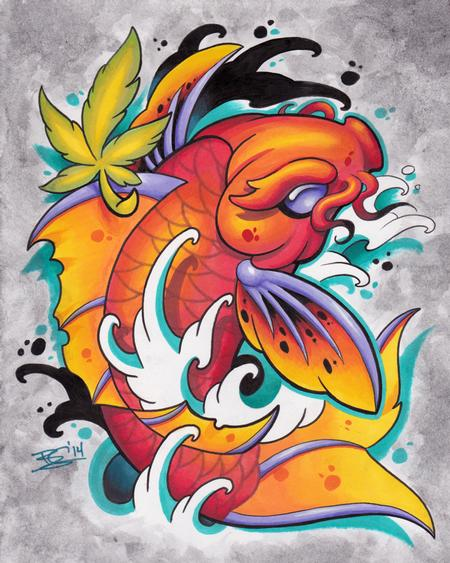 Art Galleries - Koi Marker Drawing - 89651