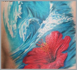 tattoos/ - Water and Flower Tattoo - 51753
