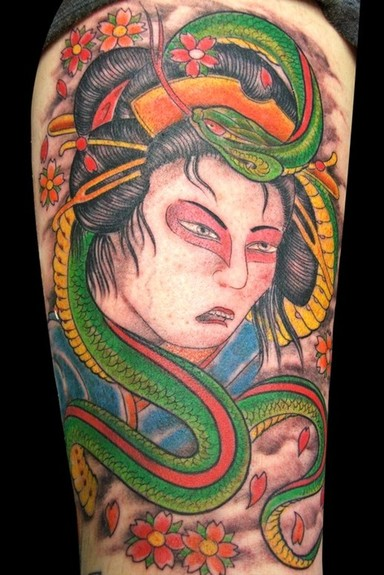 tattoos/ - Asian snake tattoo - 52473
