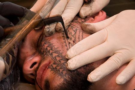 tattoos/ - Black Work Face Tattoo - 60479