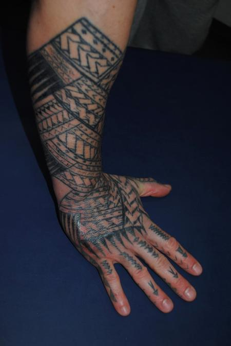 tattoos/ - Black work Hand Tattoo - 60477