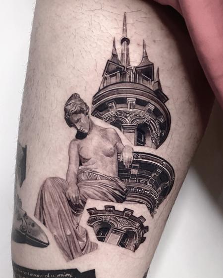 tattoos/ - Venus with Tower Tattoo - 143128