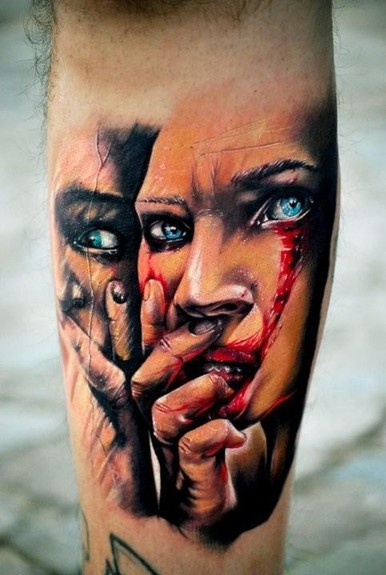 tattoos/ - Mirrored face - 49747