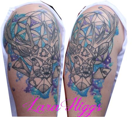 tattoos/ - Geometric abstract deer HEALED - 108753