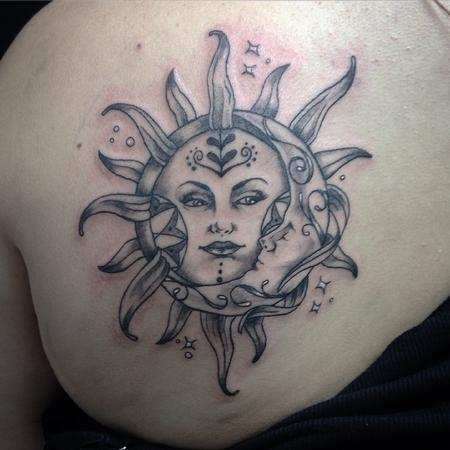 tattoos/ - Sun & Crescent Moon - 108728